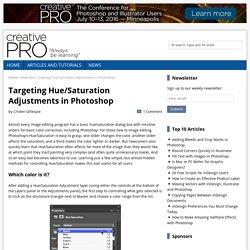 Targeting Hue/Saturation Adjustments in Photoshop - CreativePro.com