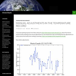 Manual Adjustments in the Temperature Record