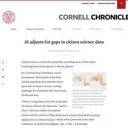 AI adjusts for gaps in citizen science data