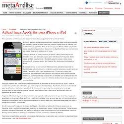 Adlead lança AppGrátis para iPhone e iPad