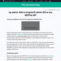 ng-admin: Add an AngularJS admin GUI to any RESTful API