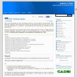 """Admin Linux » Blog Archive » """"find"""" : Quelques rappels"""