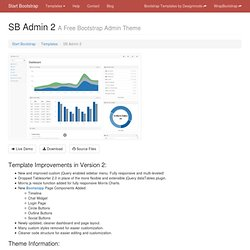 SB Admin 2 - Free Bootstrap Admin Theme - Free Bootstrap Template