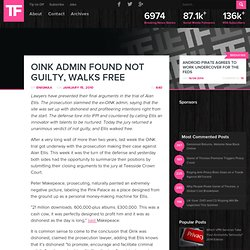 OiNK Admin Found Not Guilty, Walks Free