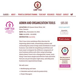 Admin and Organization Tools - Camp Tech
