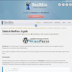Admin Wordpress : le guide