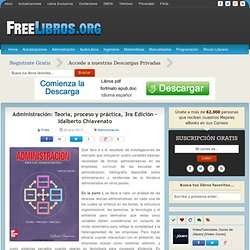 Administración: Teoría, proceso y práctica, 3ra Edición – Idalberto Chiavenato