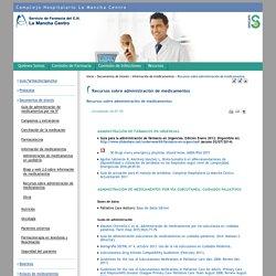 Recursos sobre administración de medicamentos
