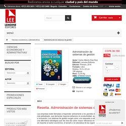 Comprar libro Administración de sistemas de gestión