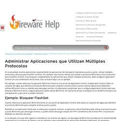 Administrar Aplicaciones que Utilizan Múltiples Protocolos