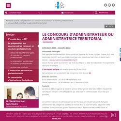 Le concours d'administrateur ou administratrice territorial