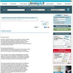 Administrateur des ventes secteur solaire H/F - Envirojob.fr
