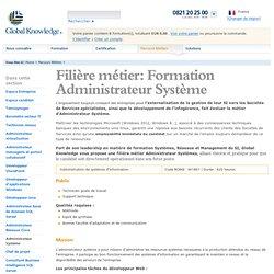 Filière métier: Administrateur Système