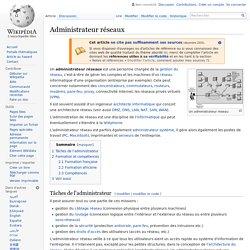 Administrateur réseaux