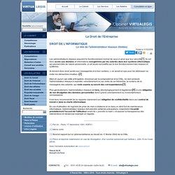 Le rôle de l'administrateur réseaux (limites)