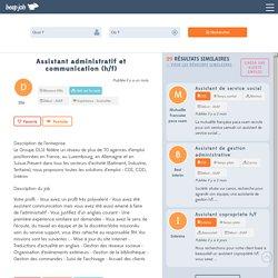 Assistant administratif et communication (h/f)