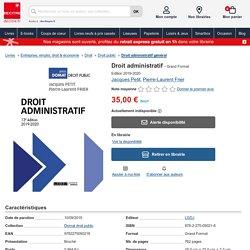 Droit administratif de Jacques Petit - Grand Format - Livre - Decitre