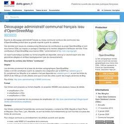 Découpage administratif communal français issu d'OpenStreetMap