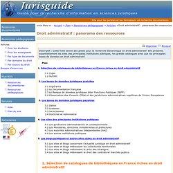 Droit administratif : panorama des ressources
