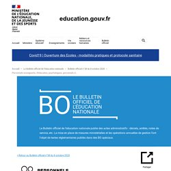 Personnels enseignants, d'éducation, psychologues, personnels d'encadrement et personnels administratifs, sociaux, de santé et des bibliothèques