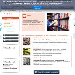 Archivage papier, archivage documents administratifs : LOCARCHIVES