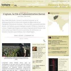 L'opium, la CIA et l'administration Karzai