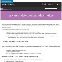 Access and Account Administration - Blackboard Help