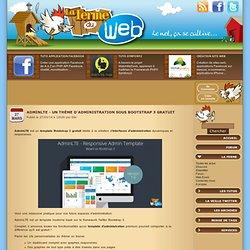 AdminLTE - Un thème d'administration sous Bootstrap 3 gratuit