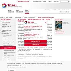 Le Conseil d'administration de Total : mission et composition