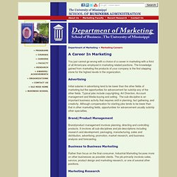 School Of Business Administration: Department of Marketing