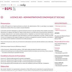 Licence AES - Administration Économique et Sociale