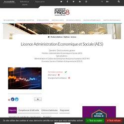 Licence Administration Economique et Sociale (AES)