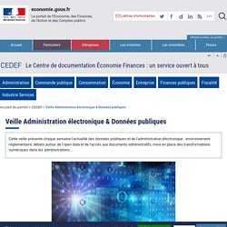 Veille Administration électronique & Données publiques