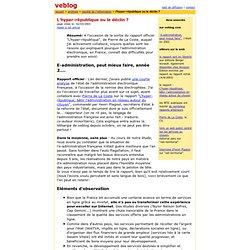 2003 : administration électronique, hyper-république ou declin ?