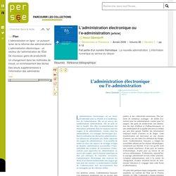 L'administration électronique ou l'e-administration