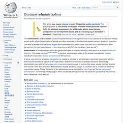 Administration (business)