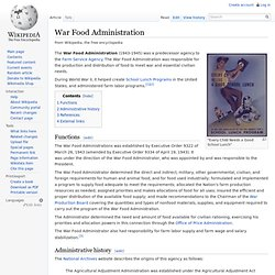 War Food Administration