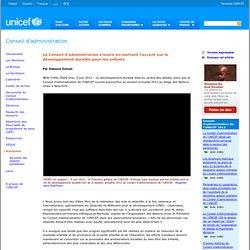 Conseil d'administration - UNICEF Executive Board