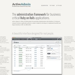 Active Admin | The administration framework for Ruby on Rails