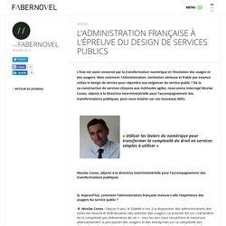 L'Administration française à l'épreuve du design de services publics