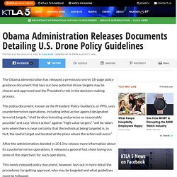 Obama Administration Releases Documents Detailing U.S. Drone Policy Guidelines