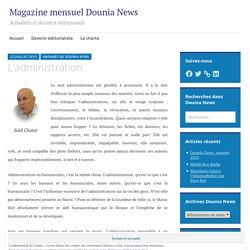 L'administration – Dounia News : Revue de presse hebdomadaire