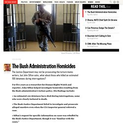 The Bush Administration Homicides