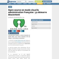 Open source en mode cloud & administration française : ça démarre doucement