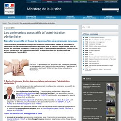 Les partenariats associatifs à l'administration pénitentiaire