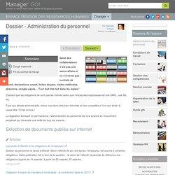 Administration du personnel et gestion du personnel, sélection d'articles