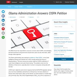 Obama Administration Answers CISPA Petition