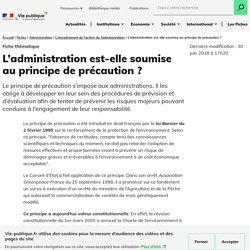 Administration et principe de précaution