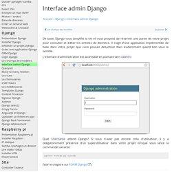 Interface d'administration Django - Python Programmation Cours Tutoriel Informatique Apprendre