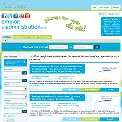 Liste des offres d'emplois en administration - Secrétariat (bureautique)